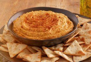 Hummus med sød kartoffel