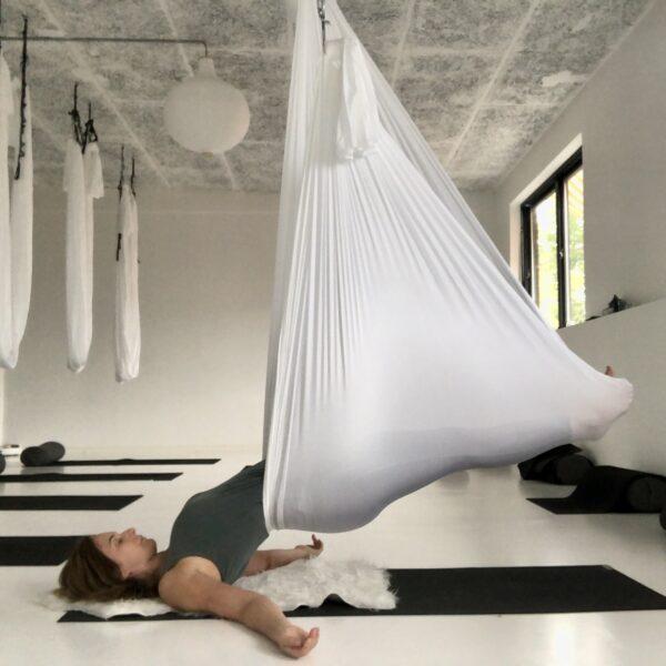 Aerial restorative yoga workshop